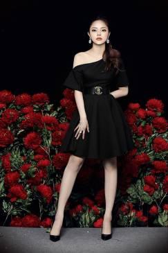 Đầm xòe đen lệch vai thiết kế trẻ trung dễ thương #1587