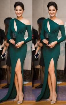 Đầm dài dạ hội đẹp thiết kế hở ngực cực tôn dáng #1525