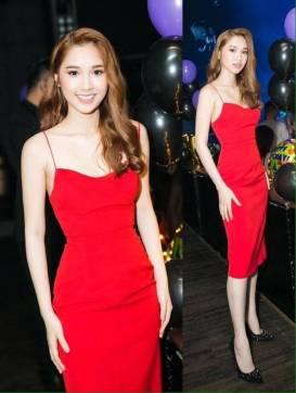 Đầm đỏ hai dây ôm body thiết kế đơn giản cực tôn dáng #1568