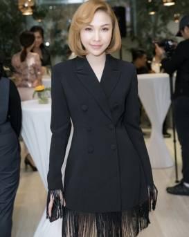 Đầm vest đen tua rua thiết kế tay dài sang trọng #1645