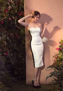 Đầm Ngọc Trinh 2 dây thiết kế cúp ngực ôm body đẹp #1673