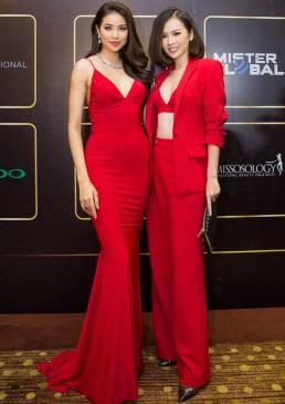 Đầm dạ hội đỏ hở lưng thiết kế 2 dây đẹp như Phạm Hương