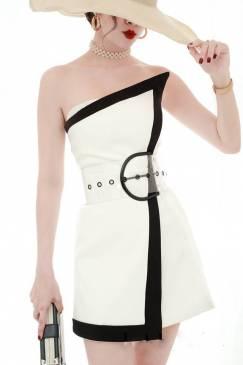 Đầm cúp ôm body đẹp thiết kế viền đen cá tính #1720