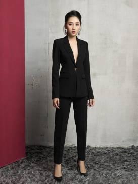 Bộ áo vest quần tây đen thiết kế sang trọng quý phái #1721