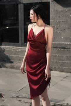 Đầm phi bóng dự tiệc thiết kế 2 dây hở lưng tuyệt đẹp #1773