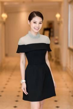 Đầm đen chữ A dự tiệc thiết kế đơn giản, tinh tế #1778