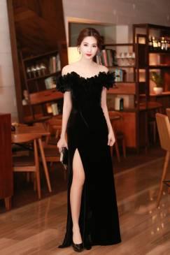 Đầm dạ hội cao cấp thiết kế đinh lông tuyệt đẹp #1942