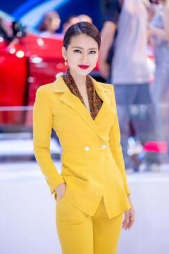 Bộ vàng áo vest tay dài quần suông # 2202