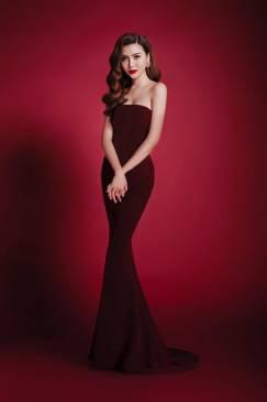 Đầm dạ hội đuôi cá đỏ cúp ngực thiết kế ôm sát 3 2216