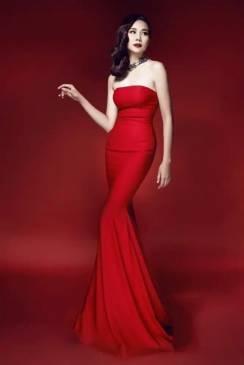 Đầm dạ hội đuôi cá đỏ cúp ngực thiết kế tinh tế # 2216