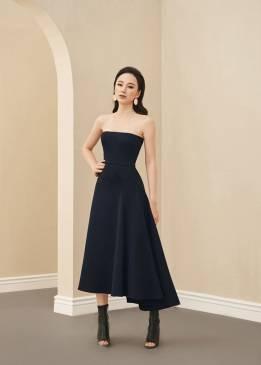 Đầm anh đen cúp ngực váy xòe thiết kế sang trọng # 2241