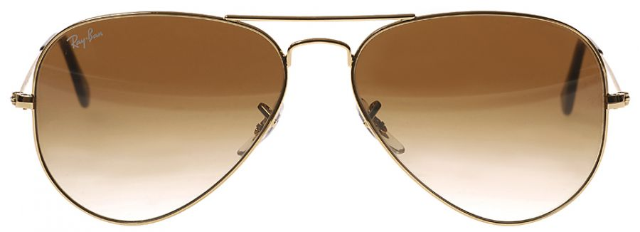 Ray Ban 3025 Gold Brown Gradient  RB 3025 001/51 Size 62 mm