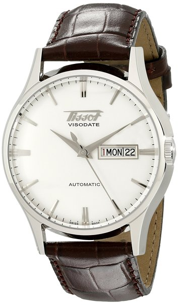 Tissot Heritage Visodate Automatic brown leather straps - Tissot TIST01943016