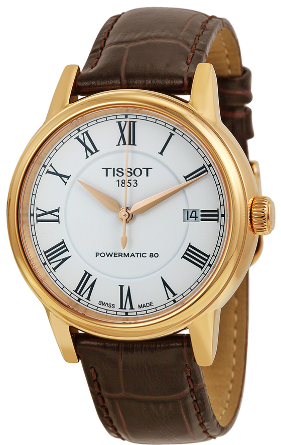 Tissot powermatic rose gold leather straps - Tissot T085407360130