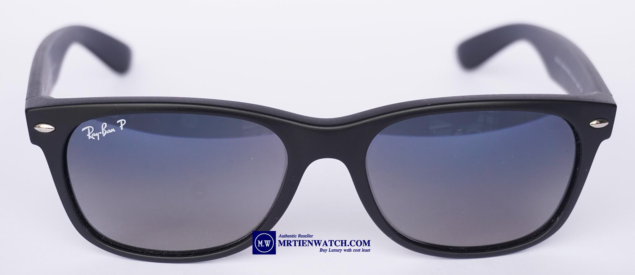 90d186d9a4 Ray-Ban new wayfarer Polarized matte black blue gradient
