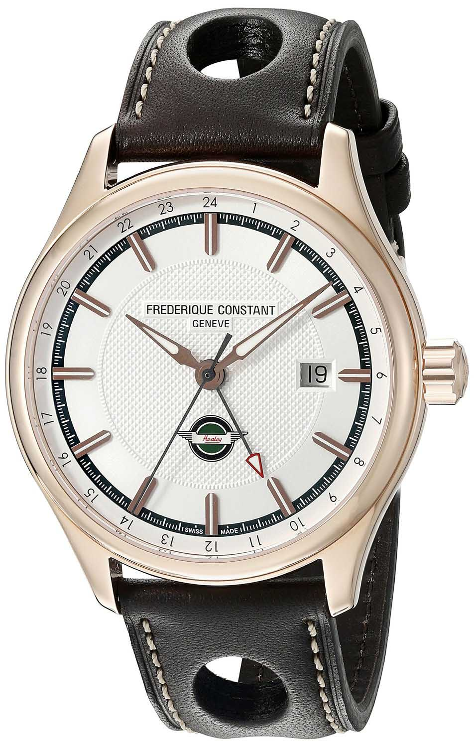 Frederique Constant Healey Limited 18k Gold PVD leather straps FC-350HVG5B4