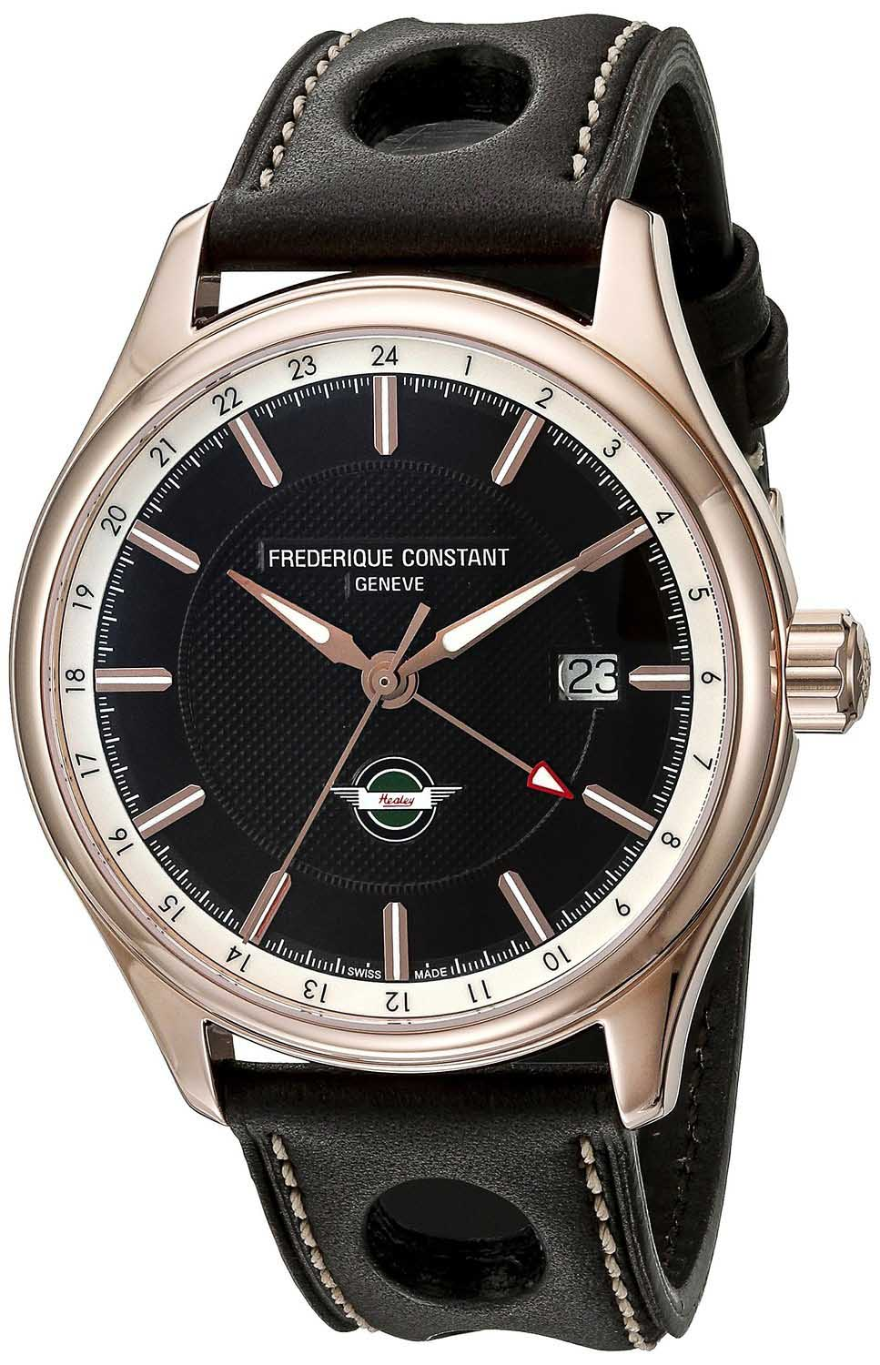 Frederique Constant  Healey Limited 18k Gold PVD back leather straps FC-350CH5B4