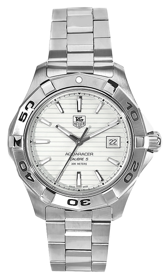 Tag Heuer Aquaracer Calibre 5 Automatic White dial stainless steel WAY2011.BA0830
