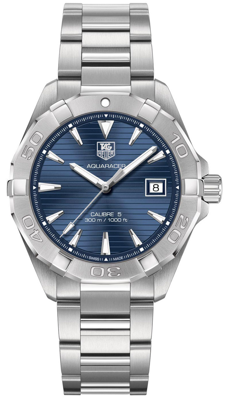 Tag Heuer Aquaracer Calibre 5 Automatic blue dial stainless steel WAY2112.BA0910]
