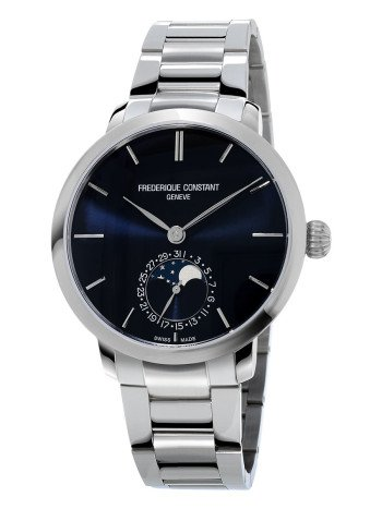 Frederique Constant Men's FC-703N3S6B Slim Line Analog-Display Swiss Automatic Silver Watch