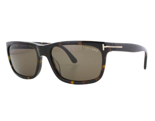Tom Ford HUGH TF337 56J Havana Men's Square Sunglasses