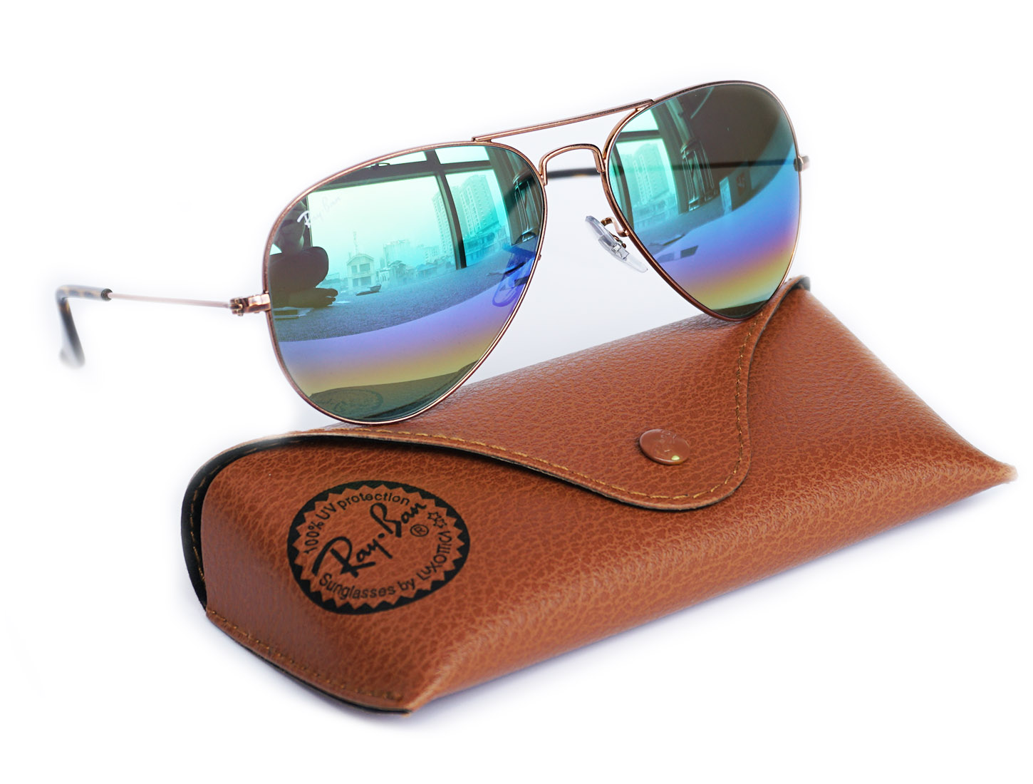 Ray Ban 3025 New Aviator Flash Gradient RB 3025 9018C3 size 62