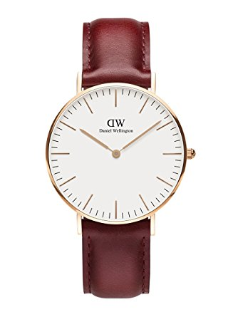 Daniel Wellington Limited Edition CLASSIC SUFFOLK Womens 36mm Watch Rose Gold DW00100122