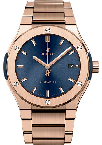 HUBLOT KING GOLD BLUE BRACELET 45MM 510.OX.7180.OX]