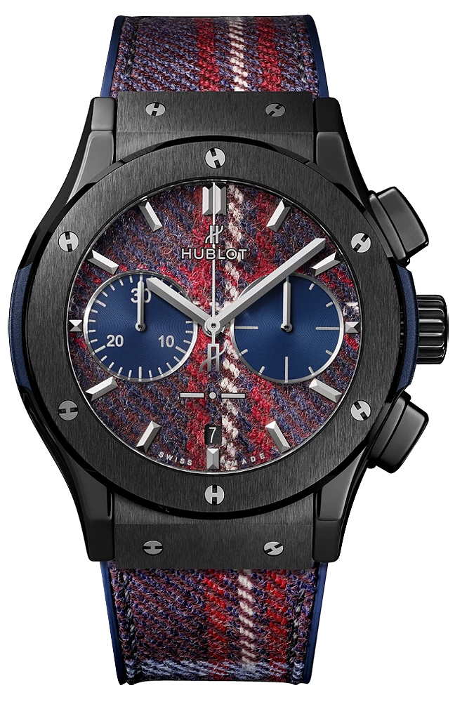 HUBLOT CHRONOGRAPH ITALIA INDEPENDENT TARTAN CERAMIC LIMITED EDITION 50 -45MM - 521.CM.2703.NR.ITI17]