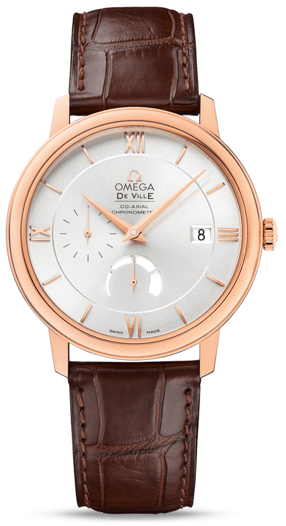 Omega De Ville Prestige Co-Axial Red Gold Leather Straps Power Reserve 39.5 mm 424.53.40.21.02.001]