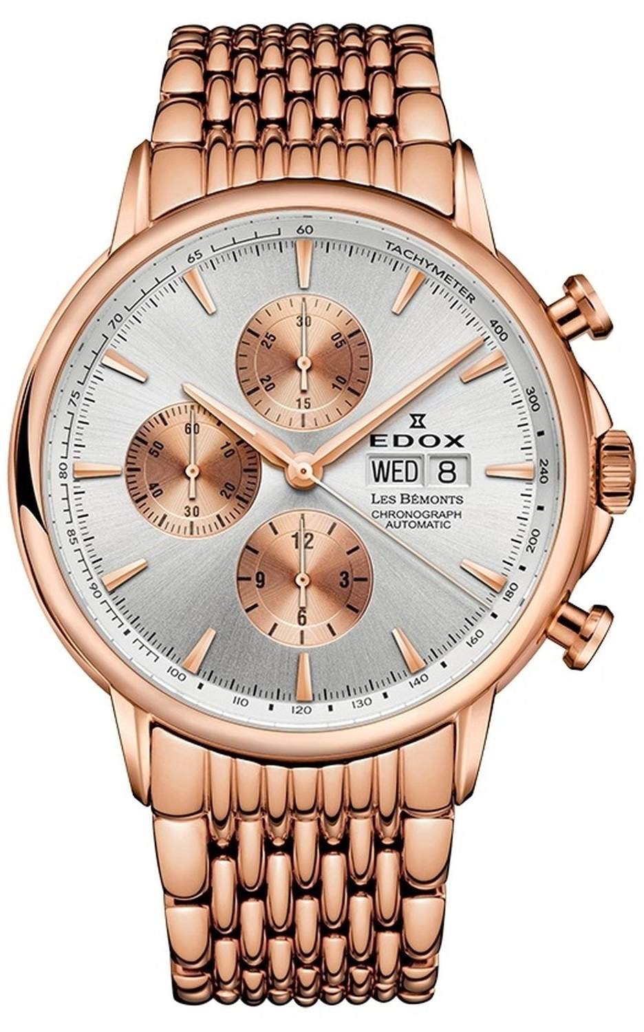 Edox Les Bemonts Chronograph Automatic  Silver Dial Size 42MM 01120 37RM AIR