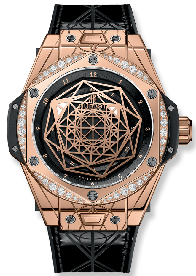 HUBLOT SANG BLEU KING GOLD DIAMONDS LIMITED 100C - 39MM 465.OS.1118.VR.1204.MXM17