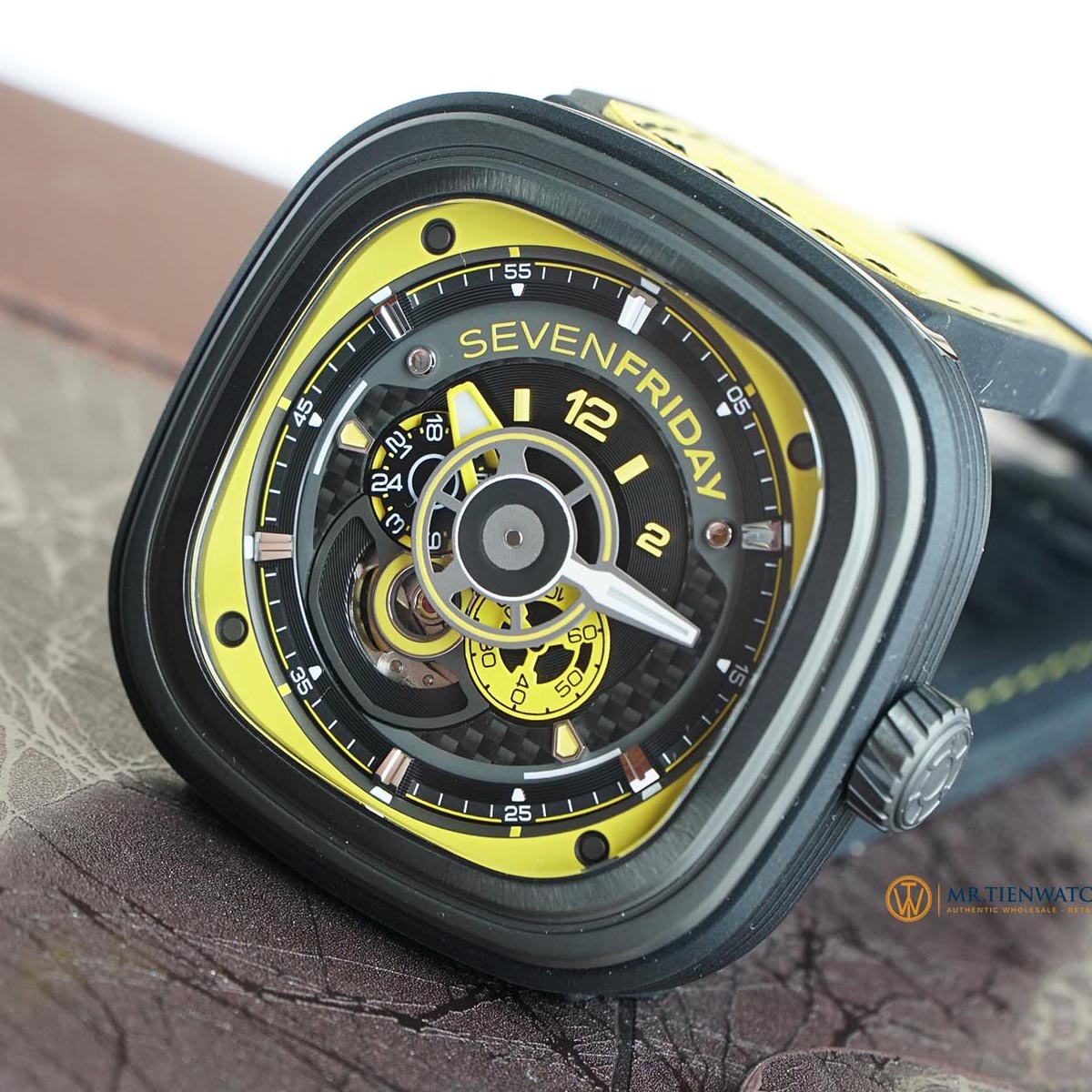 SevenFriday P-Series P3B/03 Racing Team Automatic Yellow Dial