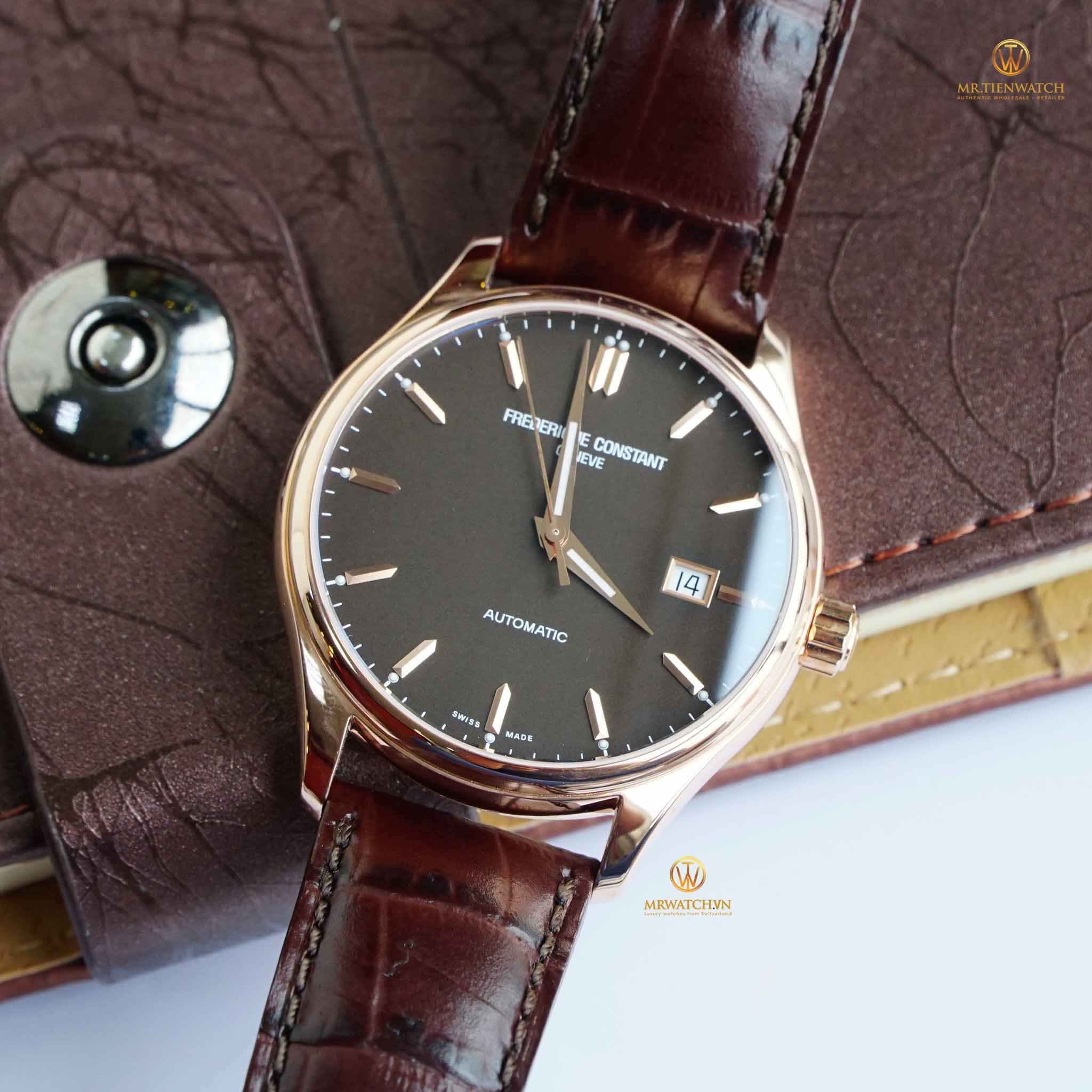 Frederique Constant Automatic Index brown dial leather straps - FC-303C5B4
