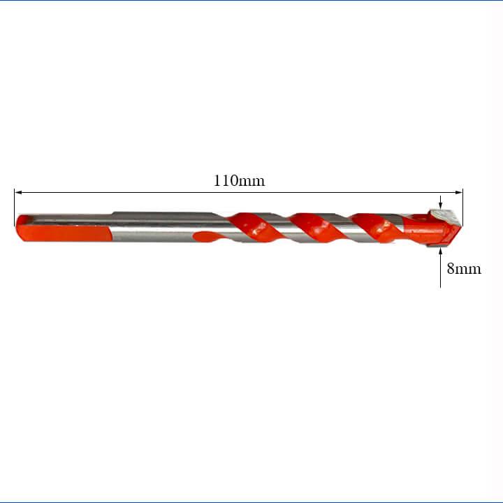 Mũi khoan đa năng 8mm - 2 cạnh - 1 hộp 10 cái