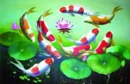 Ý nghĩa của tranh thêu tay cá chép