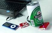 Loa nghe nhạc lon bia Heineken