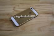 Ốp lưng nhựa vàng sâm panh cho iPhone 5 5s