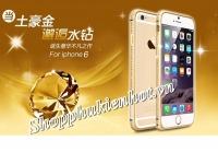 Ốp viền nhôm CotЄetcl đính đá cao cấp 1 hàng cho iPhone 6