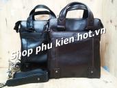 Túi đeo chéo,túi da iPad cỡ vừa A4 Droula 574-2