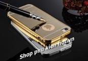 Ốp viền có nắp lưng nhựa trong iPhone 6 / 6 Plus Metal Bumper