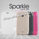 Bao da cao cấp Sparkle cho Samsung Galaxy J1 hiệu Nillkin