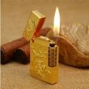 Bật Lửa Dupon rồng vàng khắc nổi