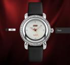 Đồng hồ nữ dây da viền đá Skmei 9093