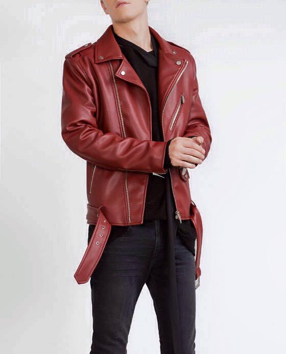Áo khoác da ZAZA cổ bẻ cực chất có 2 màu đen và đỏ, size SML , giá 1 triệu