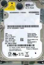 HDD Western 250GB - 7200rpm - Cache 8MB - Sata (2.5 inch for Laptop)