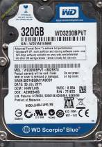 HDD Western 320GB - 5400rpm - Cache 8MB - Sata (2.5 inch for Laptop)