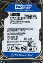 HDD Western 500GB - 5400rpm - Cache 8MB - Sata (2.5 inch for Laptop)