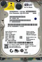 HDD Western 500GB -7200rpm - Cache 8MB - Sata (2.5 inch for Laptop)