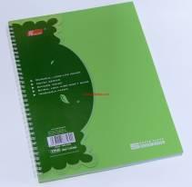 Sổ lò xo bìa nhựa A4 140 trang